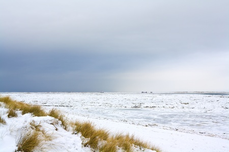 The island of Sylt in northern Germany in winter