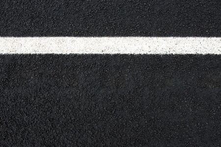 Photo for Road and white road marking (horizontal) with text space seen from above - Royalty Free Image