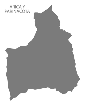 Arica Y Parinacota Chile Map in grey