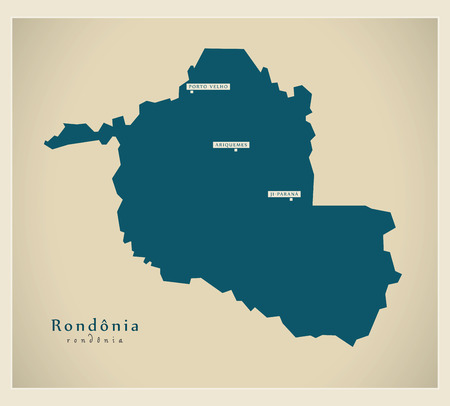 Modern Map - Rondonia BR