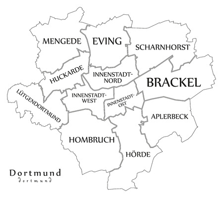 Dortmund Germany Map on