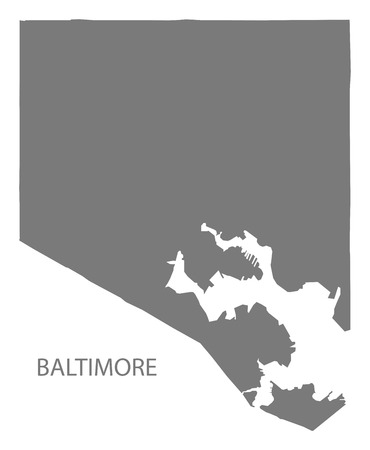 Baltimore Maryland city map grey illustration silhouette ... on graffiti of maryland, layout of maryland, landscape of maryland, graph of maryland, icons of maryland, clipart of maryland, food of maryland, drawing of maryland, cartoon of maryland,