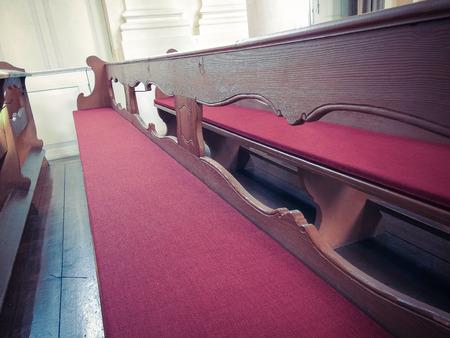 Church bench interior