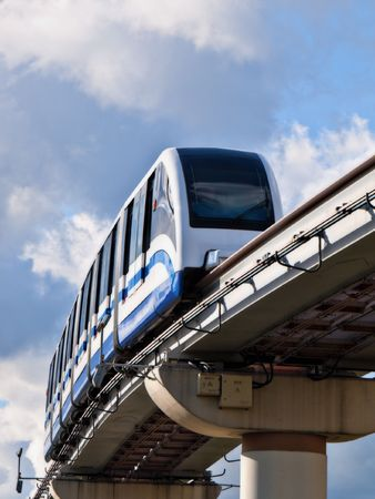 The Moscow city public transport monorail railway