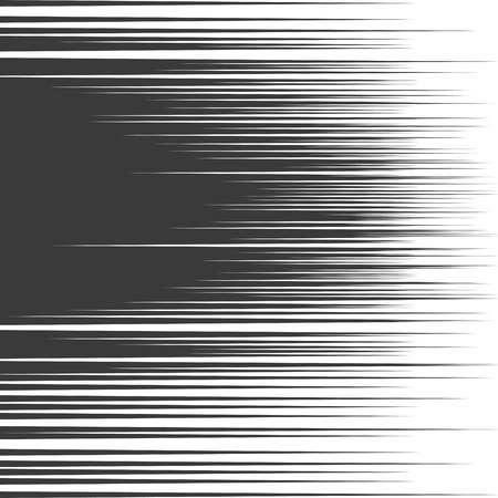 comic book speed lines background. Starburst black and white explosion in manga or pop art style.