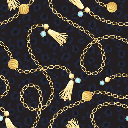 Photo pour Chain gold belt pattern fashion design. - image libre de droit
