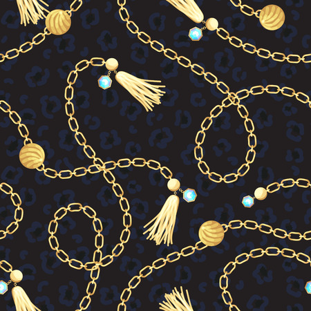 Chain gold belt pattern fashion design.