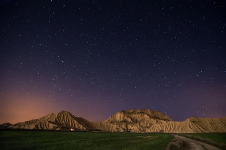 Bardenas desert at night, Navarra