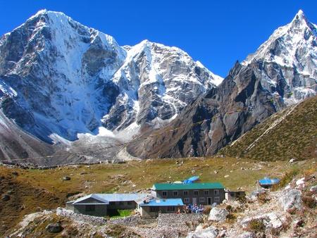 Small village in Sagarmatha National Park, Himalayas, Nepal