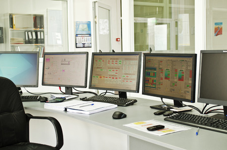 Control center of a small power plant