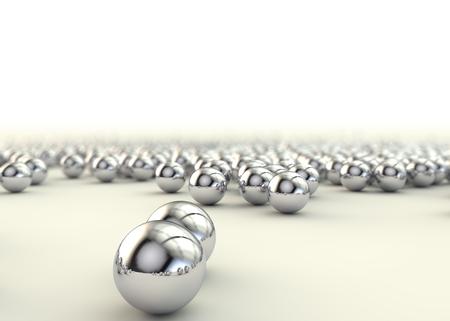 Photo pour Background of steel balls bearings on the floor - image libre de droit