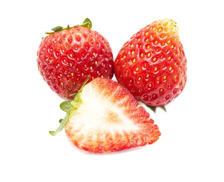 Photo for Strawberries isolated on white background. - Royalty Free Image