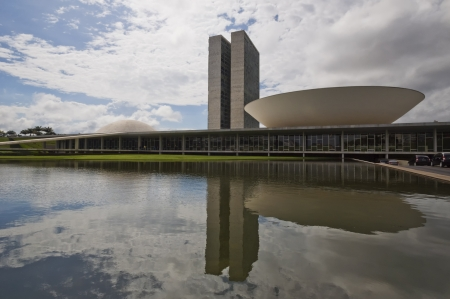 Brazilian National Congress in Brasilia, designed by famous architect Oscar Niemeyer