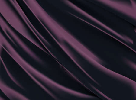 Illustration pour Abstract vector background luxury purple cloth or liquid wave Abstract or white fabric texture background. Cloth soft wave. Creases of satin, silk, and cotton. - image libre de droit