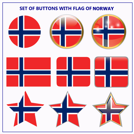 Photo for Set of banners with flag of Norway. - Royalty Free Image