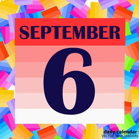 Illustration pour September 6 icon. For planning important day. Banner for holidays and special days. Illustration - image libre de droit
