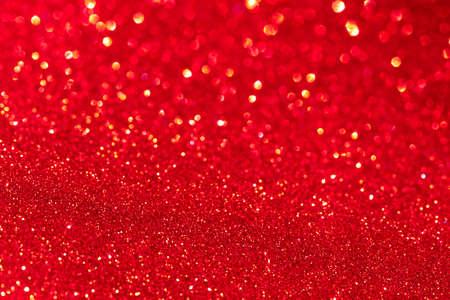 Foto für Red glitter texture Christmas abstract background. Defocused. - Lizenzfreies Bild