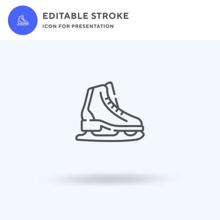 Ice Skate icon vector, filled flat sign, solid pictogram isolated on white,  illustration. Ice Skate icon for presentation.