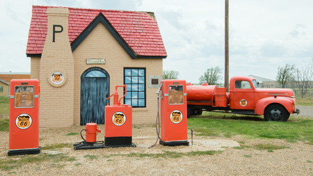 MCLEAN, TX USA - MAY 8, 2013  Historic Phillips 66 gas station on Route 66