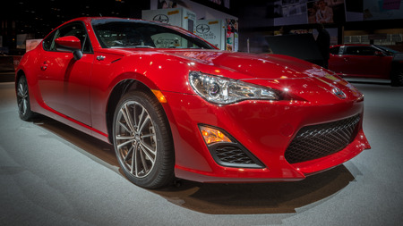 CHICAGO, IL USA - FEBRUARY 7, 2014  A 2014 Scion FR-S car at the Chicago Auto Show  CAS