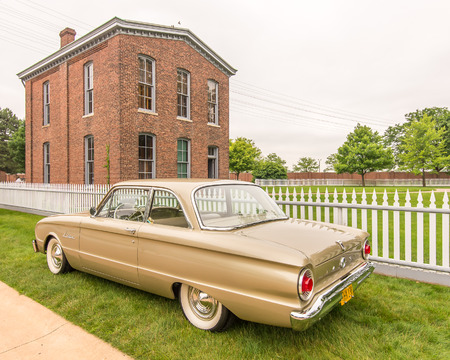 DEARBORN, MIUSA - JUNE 20, 2015: A 1962 Ford Falcon car at The Henry Ford THF Motor Muster, held at Greenfield Village.