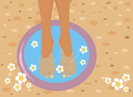 Feet in spa bowl