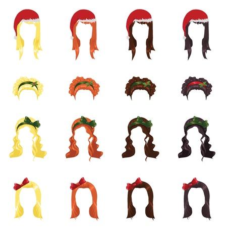 assortment of female hair