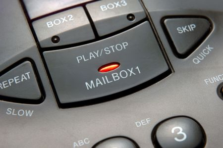 closeup of answering machine
