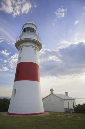 Lighthouse overlooking the sea at Low Head, Tasmania, Australia