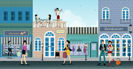 The city is a shopping center where people choose to shop.