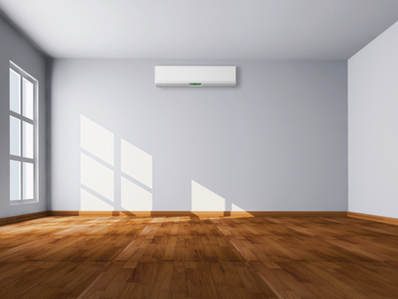 Foto per Modern bright interior with air conditioning, 3d rendered illustration - Immagine Royalty Free