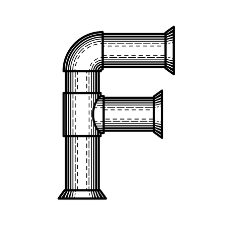 Font made ??in the style of engraving.