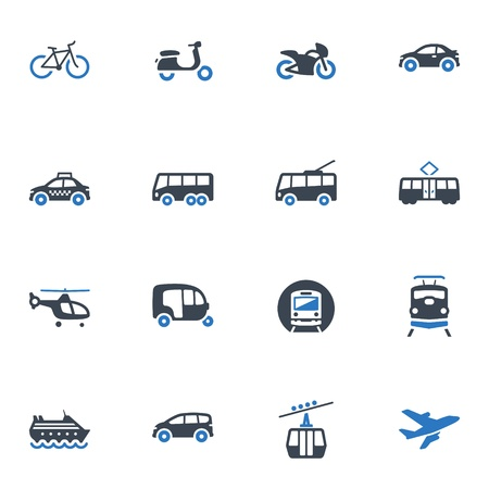 Illustration for Transportation Icons - Blue Series - Royalty Free Image