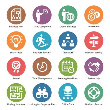 Illustration pour Business Icons Set 3 - Dot Series - image libre de droit