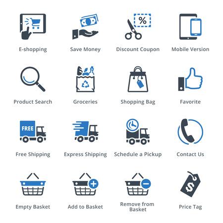 Vektor für E-commerce Icons Set 4 - Blue Series - Lizenzfreies Bild