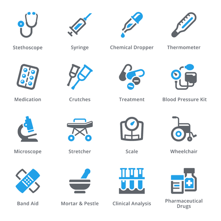 Vektor für Medical Equipment & Supplies Set 1 - Sympa Series - Lizenzfreies Bild