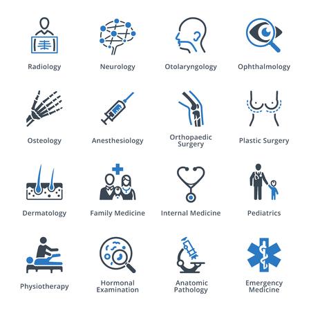 Vektor für Medical Specialties Icons Set 3 - Blue Series - Lizenzfreies Bild