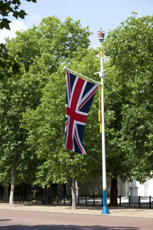 Flagpole with british flag
