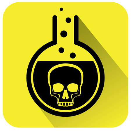 Poisonous Chemical warning sign. Vector illustration