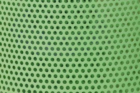 Green metal grid background