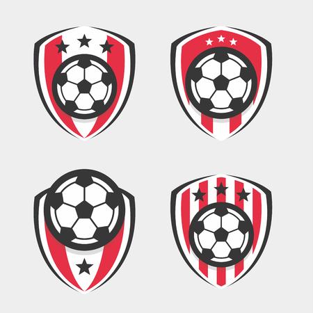 Ilustración de Soccer Logo or Football Club Sign Badge Set - Imagen libre de derechos