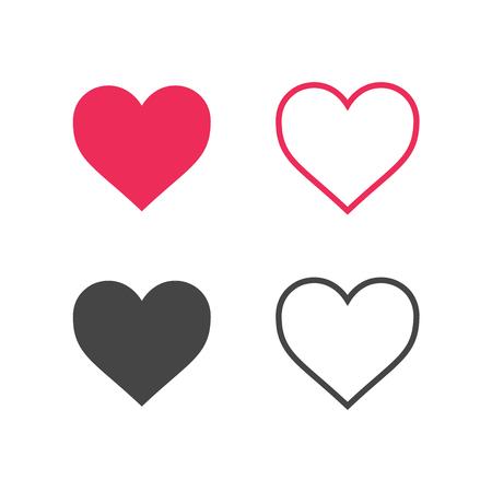 Illustration pour Heart Icon Vector. - image libre de droit