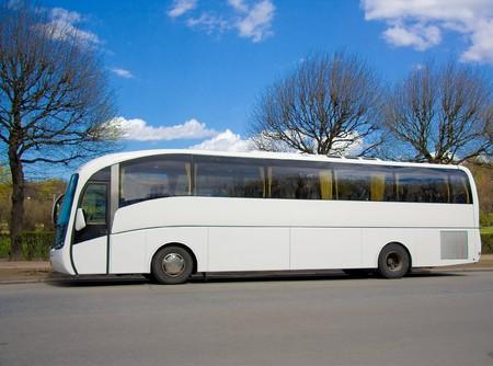 Blank modern bus