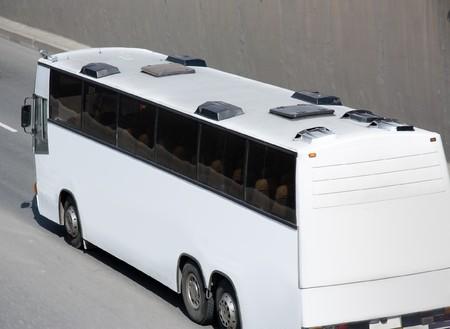 White blank bus