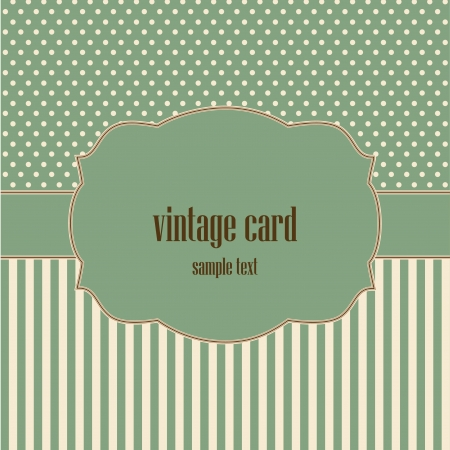 vintage card, polka dot design