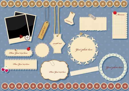 Illustration pour scrapbook elements  vector illustration - image libre de droit