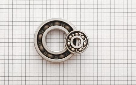 Photo pour Two ball bearings  - image libre de droit