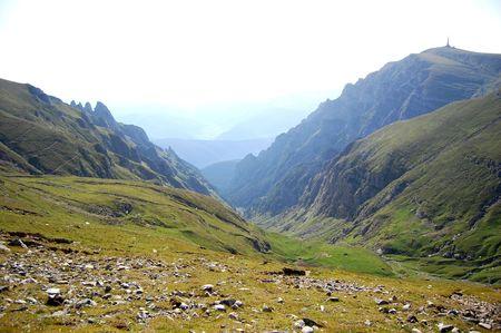 valley in bucegi mountains, the carpathians