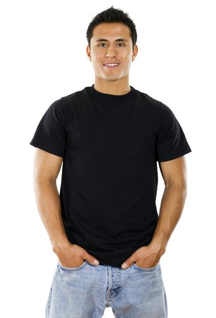 Stock image of Hispanic Male over white background