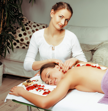 stock photo attractive lady getting spa treatment in salon, heal